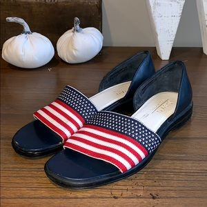 Shoes - Preppy Jasmin Collection American Flag Flats USA 7